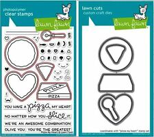 Lawn Fawn Photopolymer Clear Stamps-36ct + Dies PIZZA MY HEART ~ LF1018, LF1019