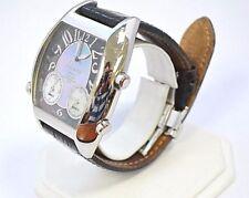 W563-Polanti 3 Time Zones 45mm Stainless Steel Wristwatch 3Z-102 MOP
