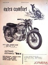 1959 Motor Cycle ADVERT - B.S.A. '650cc Golden Flash' (£253-6s-3d) Print AD