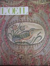 REVUE ART L'OEIL N° 108 NOEL 1963 CHABRIER VAN DER HAMEN CALLIGRAPHIE CANCALE