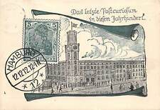 HAMBURG, GERMANY, POST OFFICE, used at the 12th Hour,12th Day,12th month, 1912