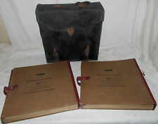 "2 EAST-LIGHT VINTAGE 12"" RECORD Container CASE GRAMOPHONE Storage ALBUM Attache"