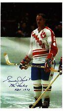 Gordie Howe pose on 1974 Team Canada vs Team Russia in exhibition Series