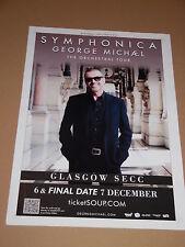 GEORGE MICHAEL - rare UK live music show tour concert / gig poster - dec 2011