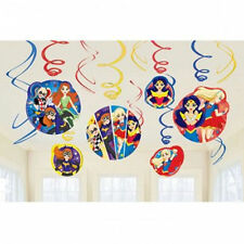 DC Super Hero Girls Hanging Swirl Decoration Birthday Party Supplies Dangler ~12