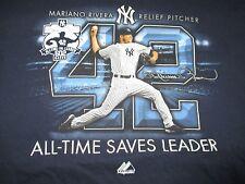 MARIANO RIVERA No 42 NEW YORK YANKEES All-Time SAVES Leader 602 (XL) T-Shirt