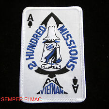 ACE OF SPADES PATCH F-4 PHANTOM 200 MISSIONS PIN UP US MARINES NAVY AIR FORCE