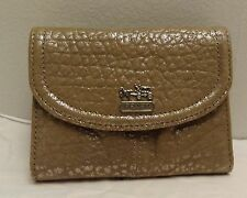 NWT Coach 47220 Madison Embossed Metallic Medium Wallet Slate