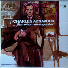 CHARLES AZNAVOUR / PAUL MAURIAT ORCH. - THAN WHOM NONE GREATER - REPRISE LP -