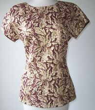DOLCE & GABBANA Metallic Burgundy Gold Brocade Top 42 6