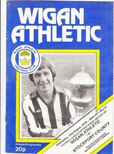 Wigan Athletic v Stockport - Football League Cup Rd 1 - 1979 / 80 - August 15th