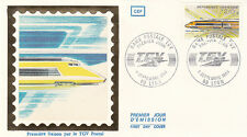 Enveloppe 1er Jour TRAIN LYON 08/09/1984 première liaison par le T.G.V. postal