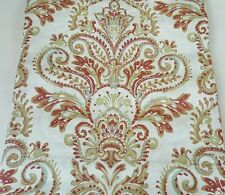 New 2 ENVOGUE Rust Damask Paisley Medallions Window Curtain Panels 96 tan