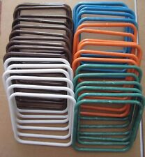 "Lot of 18 Pairs Assorted 7"" Square Thin Plastic Macrame Purse Handles Craft DIY"