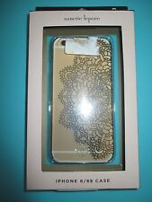 Nanette Lepore iPhone 6/6S Phone Case Cover Single Piece Gold Lace $40 Retail