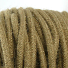 soft HESSIAN covered rustic lighting textile fabric electrical cord cloth cable