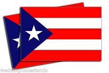 "2xz Puerto Rican FLAG Puerto Rico 5"" VINYL DECAL STICKER - 2 Pack"