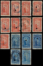 Canada Quebec Law Stamp 1871 Set of 14 10 Cents - 5 Dollars QL15 QL28 Used #197