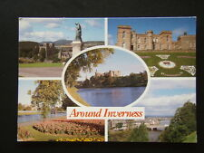 AROUND INVERNESS ST ANDREWS CATHEDRAL CASTLE RIVER NESS GARDENS 2004 POSTCARD