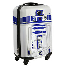 Licensed Disney Star Wars R2-D2 Rolling Carry-On Luggage White Suit Case