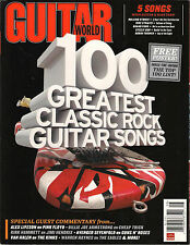 GUITAR WORLD August 2011 100 Greatest Classic Rock Songs Poster Dire Straits TAB