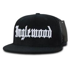 Black Inglewood Rap Gangster Embroidered Hip Hop Flat Bill Snapback Cap Hat