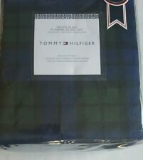 New Tommy Hilfiger 3 pc King Duvet Set Bruce Plaid Flannel navy blue green