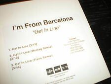 I'm From Barcelona Get In Line CD single Montag Remix Flairs Remix