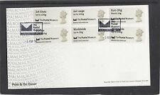 GB 2016  Post & Go Postal Museum Machin Head Collectors Strip FDC special pmk