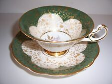 Vintage Foley Cup and Saucer Chintz Black Mark