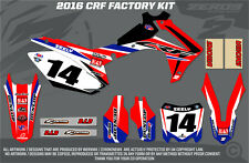 HONDA crf250 2014-2015/crf450 2013-2015 MX grafica FACTORY KIT COMPLETO