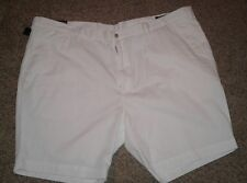Big Tall Polo Ralph Lauren Classic Fit White Chino Flat Front Shorts Size 52 B