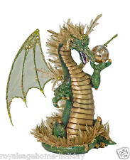 "28-628004 Katherines Collection 13"" Green Dragon Mardi Gras Table Decoration"