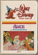 Alice In Wonderland (BETA/Betamax Clamshell) 1951 Disney