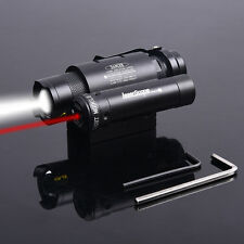 Red Dot Sight Laser Scope for LED Flashlight Torch Rifle Hunting Mount Light Gun