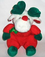 Santa Claus Reindeer  Puffy Plush Silky Nylon/Polyester  Christmas Toy