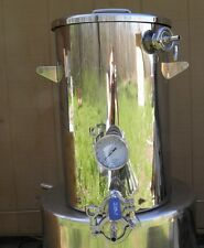 9 Gallon Mash Tun with Recirculation Fitting & Bottom Outlet, Home Brewing,