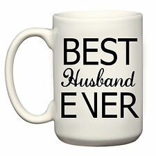 BEST HUSBAND EVER LARGE GRANDE MUG CUP 15OZ BIRTHDAY CHRISTMAS VALENTINES DAY