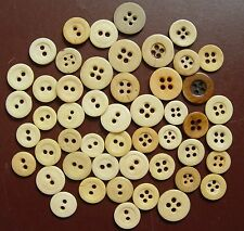 50 2 & 4 Hole Bone Buttons Civil War Reinactors