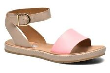 Clarks Ladies Romantic Moon Pink Leather Casual Sandals Size UK 5/38