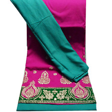 Indian Women Dress Fabric Bridal Unstitched Material Ethnic Party Wear Suit Set