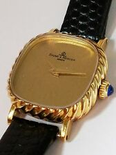 BEAUTIFUL VINTAGE BAUME MERCIER 14K SOLID GOLD MECHANICAL LADIES WATCH VERY NICE