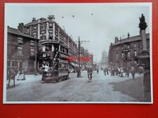 POSTCARD SHEFFIELD TRAMS - NO 144 AT MOORHEAD TOWARDS PINSTONE ST
