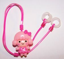 Children's Hearing Aids LEASH RETAINER CLIP for 2 H.A. 's ......PINK DOLLY