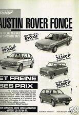 Publicité advertising 1985 Austin Rover