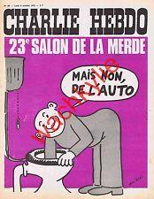 Charlie Hebdo 99 09/10/1972 salon de l'auto Wolinski Cabu à Lyon Mercedes 280SE