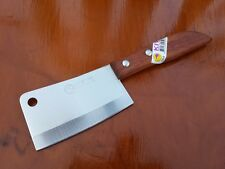 """THAI KITCHEN KNIFE KIWI BRAND SMALL CLEAVER 3"""" #504 STAINLESS WOOD HANDLE COOK"""