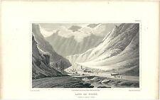 1818 Lanslebourg-Mont-Cenis MONCENISIO acquaforte Saint-Jean-de-Maurienne