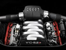 AUDI S8 V10 5.2 CAR ENGINE POSTER PICTURE PRINT