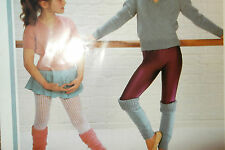 GIRLS JUMPER AND ANKLE WARMERS WENDY KNITTING PATTERN 24/34 CHEST